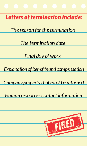 sample termination letter to employee 300x500