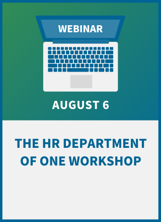 The HR Department of One Workshop