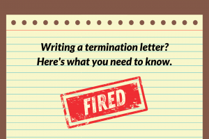Simple sample termination letter to an employee templates