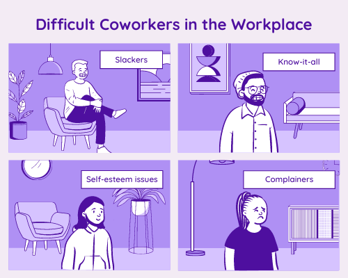 how to deal with difficult coworkers-500x400