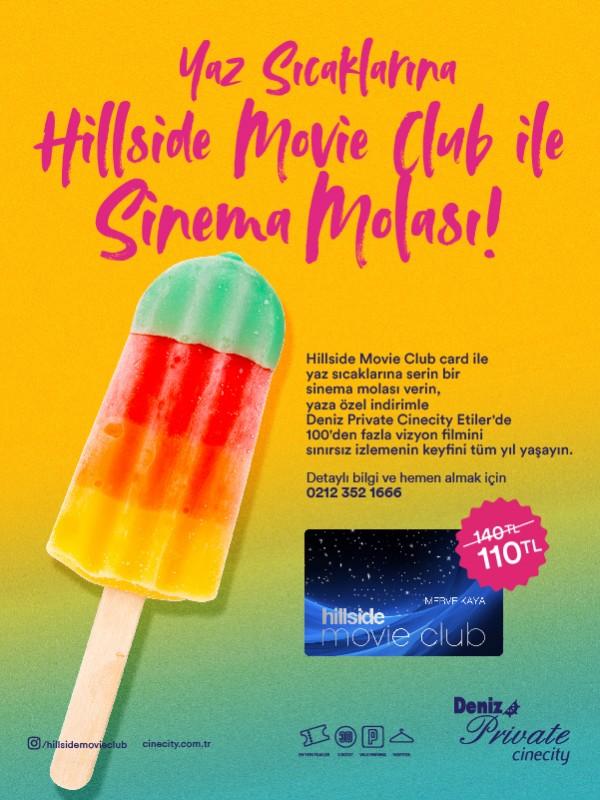 Yaz Sıcaklarına Hillside Movie Club ile Sinema Molası!