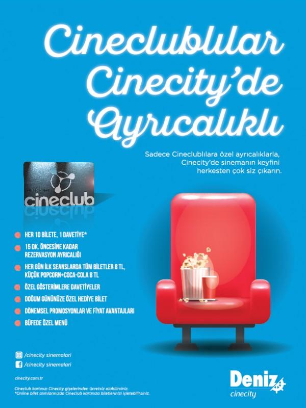 Cineclublılar Cinecity'de Ayrıcalıklı