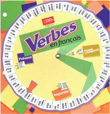 Verbes en francais - French verb wheel