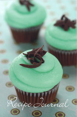 Large Recipe Journal: Mint Cupcake