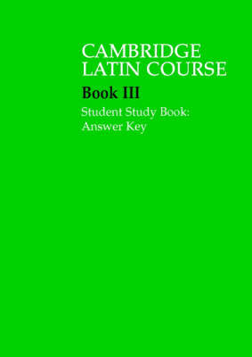 Cambridge Latin 3: Student Study Book Answer Key