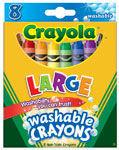 Crayons Jumbo Washable pk8 (523280)