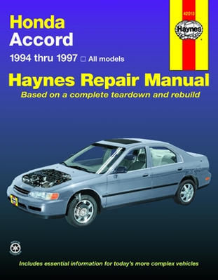 Honda Accord 1994-1997 Haynes Repair Manual