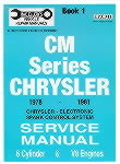 Chrysler Valiant CM (1978-1981) Volume 1 Max Ellery Manual