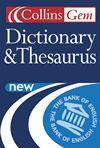 Collins Gem Dictionary & Thesaurus