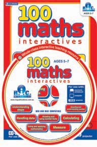 100 Maths interactives -Age 5 to 7 years. Single user CD