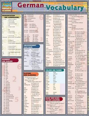 German Vocabulary laminated chart