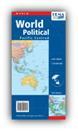 World Map - Political - Pacific Centred - Deluxe Cover