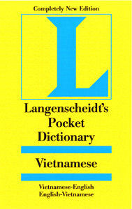 Langenscheidt Pocket Vietnamese-English, English-Vietnamese Dictionary
