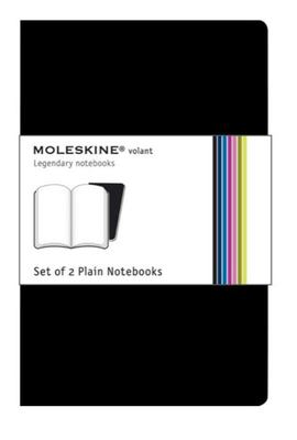 Volant Plain Black Large Notebook pk2
