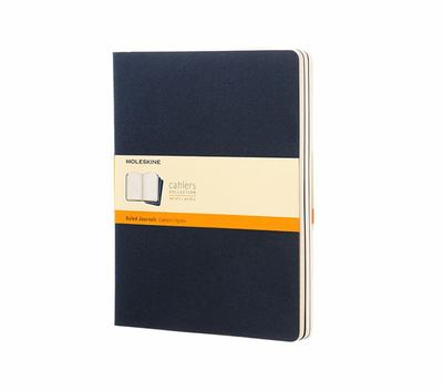 Cahier Ruled Navy XLarge Notebook pk3