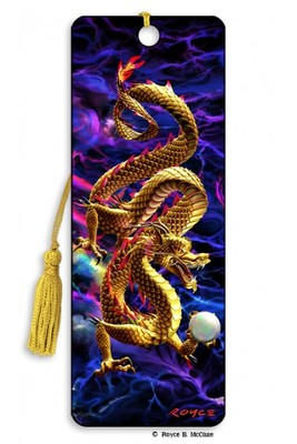 Golden Dragon 3D Bookmark