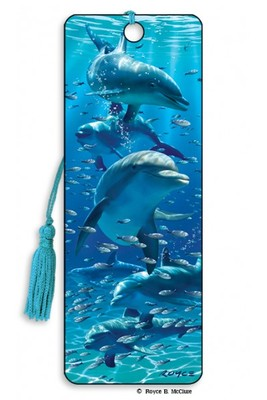 Dolphins 3D Bookmark
