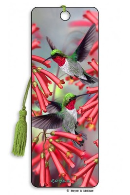 Hummingbirds 3D Bookmark