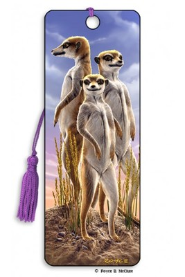 Meerkats 3D Bookmark