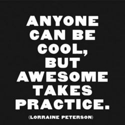 Anyone can be Cool Magnetic Quote