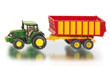 SKU1650 - John Deere Tractor With Silage Trailer