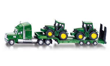 Siku SI1837 Low Loader With John Deere Tractors