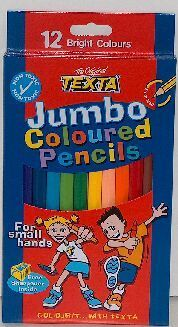 Texta Coloured Pencils Jumbo Pack of 12 - 02122 - GNS