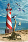 Lighthouse Holographic Puzzle, 60-piece