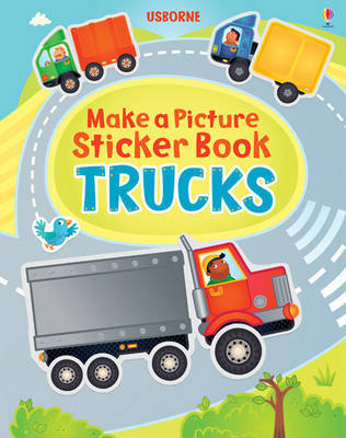 Trucks (Usborne Make a Picture Sticker Book)