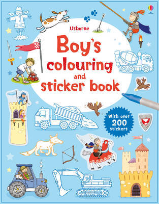 Usborne Boys' Colouring and Sticker Book
