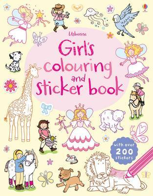 Usborne Girls' Colouring and Sticker Book