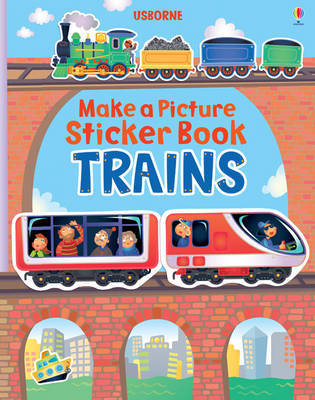 Trains (Usborne Make a Picture Sticker Book)
