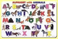 Alphabet with Animals Learning Placemat