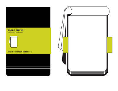 Large Reporter Plain Hardcover Notebook