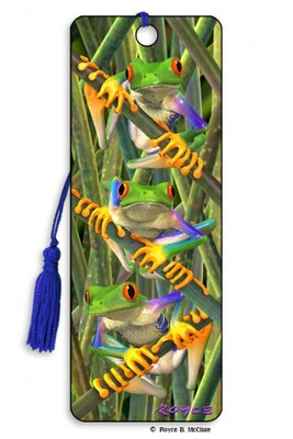 Tree Frogs 3D Bookmark