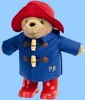 PB1084 PADDINGTON WITH BOOTS BLUE COAT 22cm