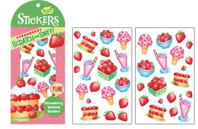 Strawberry Scratch & Sniff Stickers