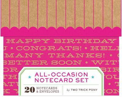 Two Trick Pony All-occasion Notecard Set