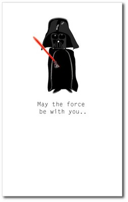 Happy Birthday Force Card