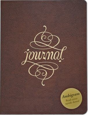 Ambigram Leather Journal
