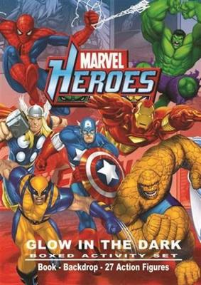 Marvel Heroes Glow in the Dark Boxed Activity Set
