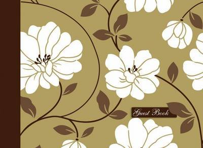 Guest Book - Gold Flowers