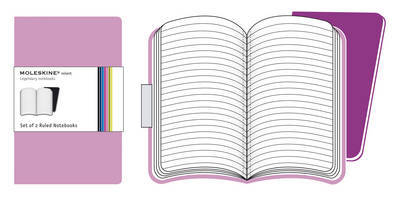 Volant Ruled Pink Notebook XSmall 2pk