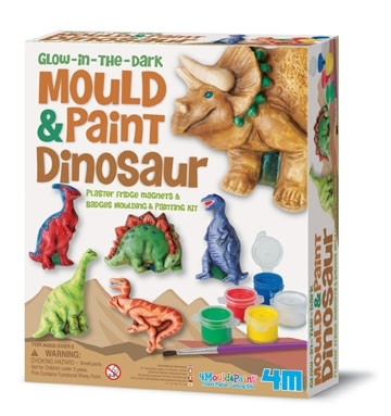 Mould and Paint Dinosaurs (Glow in the Dark)