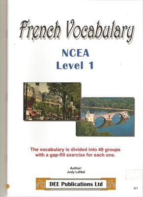 French Vocabulary:  NCEA Level 1