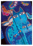2013 Blue Cats & Butterflies Diary  (Midi Format - Week at a Time)