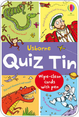 Usborne Quiz Tin (Wipe-Clean Cards & Pen)