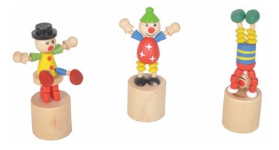 Wooden Mini Push Puppet