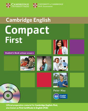 Compact First Student Book without Answers with CD-ROM