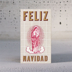 Our Lady Enclosure/Gift Tag (Letterpress)